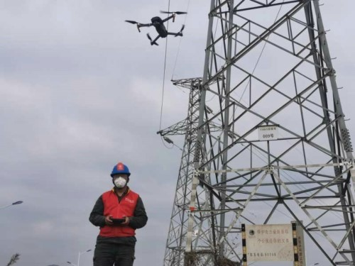 Drone in maintain of electric transmission line